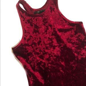 Red Crushed Velvet Dress